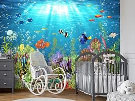 3D Фотообои «Забавные рыбки» вид 7