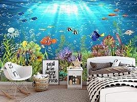 3D Фотообои «Забавные рыбки» вид 5