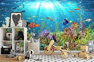 3D Фотообои «Забавные рыбки» вид 2