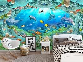 3D Фотообои «Разноцветные морские обитатели» вид 5
