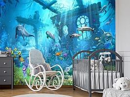 3D Фотообои «Подводные развалины» вид 7