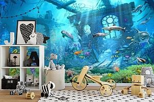 3D Фотообои «Подводные развалины» вид 2