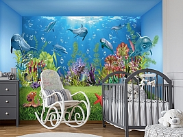 3D Фотообои «Газон под водой» вид 7