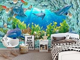 3D Фотообои «Дно океана» вид 5