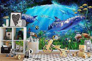3D Фотообои «Глубоко под водой» вид 2