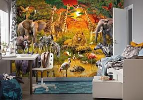 3D Фотообои «Животные Африки» вид 4