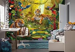 3D Фотообои «Сказочные тигры» вид 4