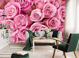 3D Фотообои «Розовые розы» вид 7