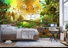 3D Фотообои «Тигриная долина» вид 5