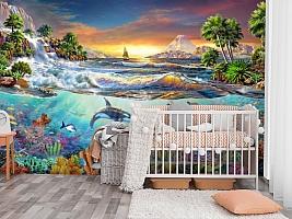 3D Фотообои «Косатки. Сказочные острова» вид 3
