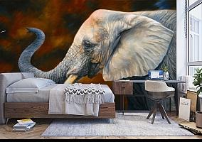 3D Фотообои «Слон. Рисунок» вид 5