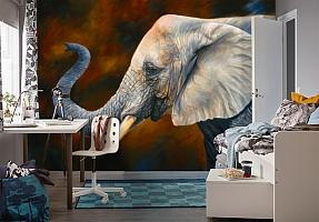 3D Фотообои «Слон. Рисунок» вид 4