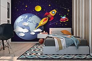 3D Фотообои «Космос для детской» вид 2