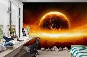 3D Фотообои «Красная планета» вид 3