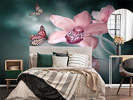 3D Фотообои «Изящная орхидея» вид 4