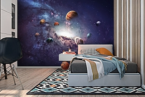 3D Фотообои «Парад планет» вид 2