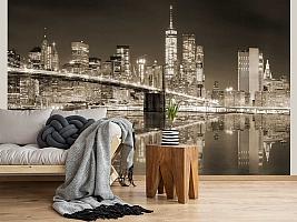 3D фотообои 3D Фотообои «Бруклинский мост сепия» вид 2