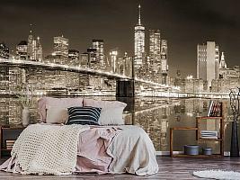3D фотообои 3D Фотообои «Бруклинский мост сепия» вид 3