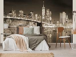 3D фотообои 3D Фотообои «Бруклинский мост сепия» вид 4