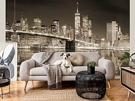 3D фотообои 3D Фотообои «Бруклинский мост сепия» вид 6