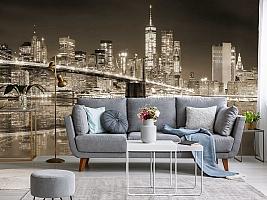 3D фотообои 3D Фотообои «Бруклинский мост сепия» вид 8
