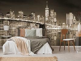 3D Фотообои «Бруклинский мост сепия» вид 6