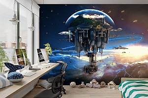 3D Фотообои «Футуристический космический замок» вид 3