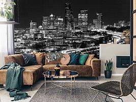 3D фотообои 3D Фотообои «Ночной город черно-белые» вид 11