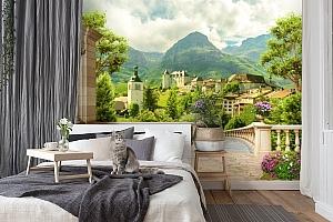 3D Фотообои «Античная терраса с видом на владения» вид 7