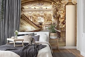 3D Фотообои «Лестница в богатом замке» вид 7