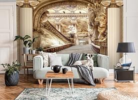 3D Фотообои «Лестница в богатом замке» вид 6