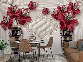 3D Фотообои «Инсталляция с античными вазами» вид 3