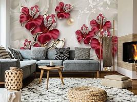 3D Фотообои «Драгоценные лилии» вид 7