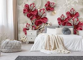 3D Фотообои «Драгоценные лилии» вид 6