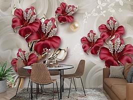 3D Фотообои «Драгоценные лилии» вид 3