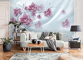 3D Фотообои «Ювелирная орхидея на шелковом фоне» вид 8