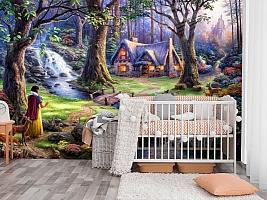 """3D Фотообои  """"Сказочный лес"""" вид 3"""