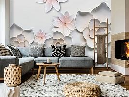 3D Фотообои «Керамические цветы» вид 7