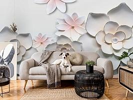 3D Фотообои «Керамические цветы» вид 5