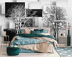 3D Фотообои «Деревья в стиле модерн» вид 6