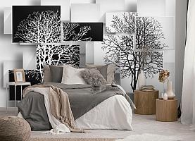 3D Фотообои «Деревья в стиле модерн» вид 5
