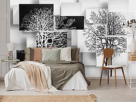 3D Фотообои «Деревья в стиле модерн» вид 3