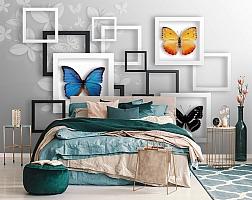 3D Фотообои «Коллекция бабочек» вид 6