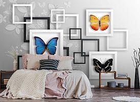 3D Фотообои «Коллекция бабочек» вид 4