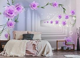 3D Фотообои «Тоннель с розами» вид 4