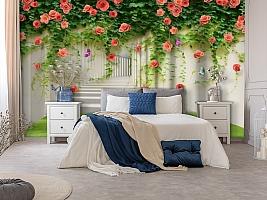 3D Фотообои «Тоннель с лианами роз» вид 7