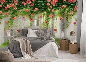 3D Фотообои «Тоннель с лианами роз» вид 5