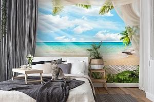 3D Фотообои «Мостик на пляже» вид 7