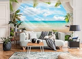 3D Фотообои «Мостик на пляже» вид 6