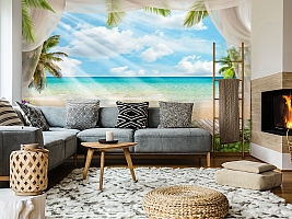 3D Фотообои «Мостик на пляже» вид 5